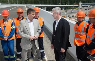 Мэр Москвы Сергей Собянин открыл развязку на пересечении Ленинского проспекта и МКАД