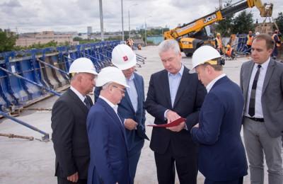 Мэр Москвы Сергей Собянин осмотрел работы на Волгоградском проспекте
