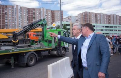 Мэр Москвы Сергей Собянин запустил бессветофорное движение по Варшавскому шоссе