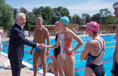 Мэр Москвы Сергей Собянин на месте изучил планы реконструкции бассейна «Лужников»