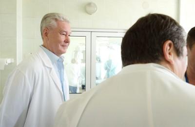 Сергей Собянин в рамках рабочей поездки посетил больницу № 1 им. Пирогова