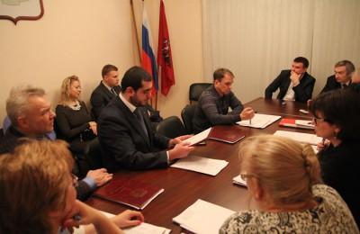 Депутаты обсудили благоустройство района Москворечье-Сабурово
