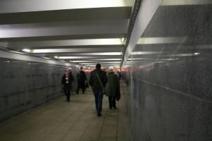 Защитной краской в Москве начали обрабатывать стены пешеходных переходов и поезда