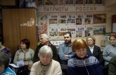 Ветераны района Москворечье-Сабурово вместе с единороссами обсудили предоставление льгот на капремонт для пенсионеров
