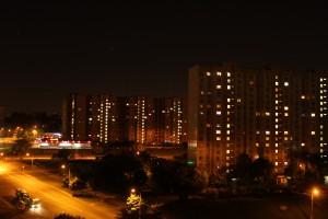 Безоблачная ночь в Москворечье-Сабурове