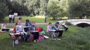 Учащиеся гимназии №1579 открыли сезон пленэров