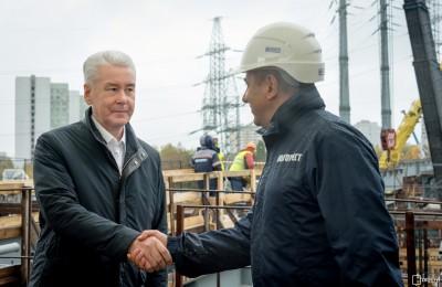 Сергей Собянин на участке строительства Северо-Восточной хорды