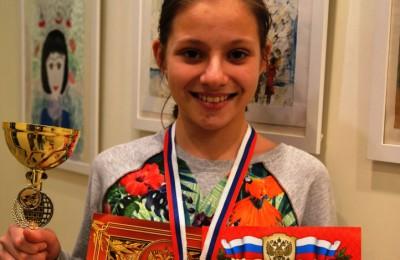 Школьница из Москворечья-Сабурова стала обладателем Золотого Кубка Москвы по шашкам