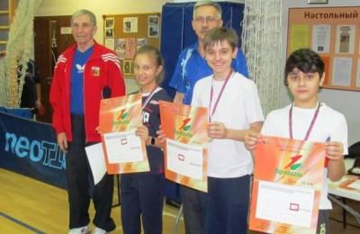 Победители турнира по настольному теннису в районе