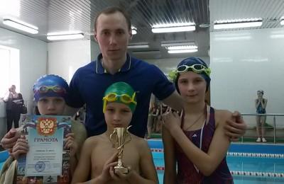 """Учащиеся гимназии """"Эллада"""" в соревнованиях по плаванию"""
