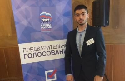 Председатель молодежной палаты района Геворк Хоршикян