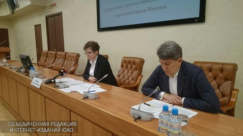 В столице состоялась пресс-конференция руководителя Департамента труда и социальной защиты