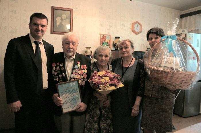Во время поздравления