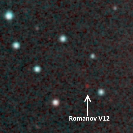 Цветное фото переменной звезды Romanov V12