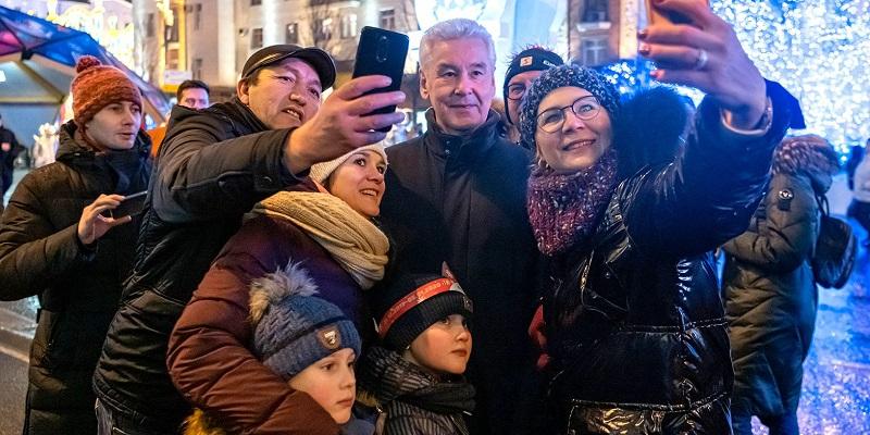 Собянин, фестиваль, рождество, мосру, 07203